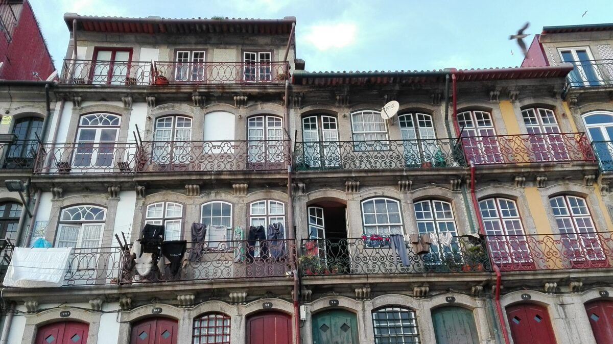 The dilapidated buildings of Porto Portugal