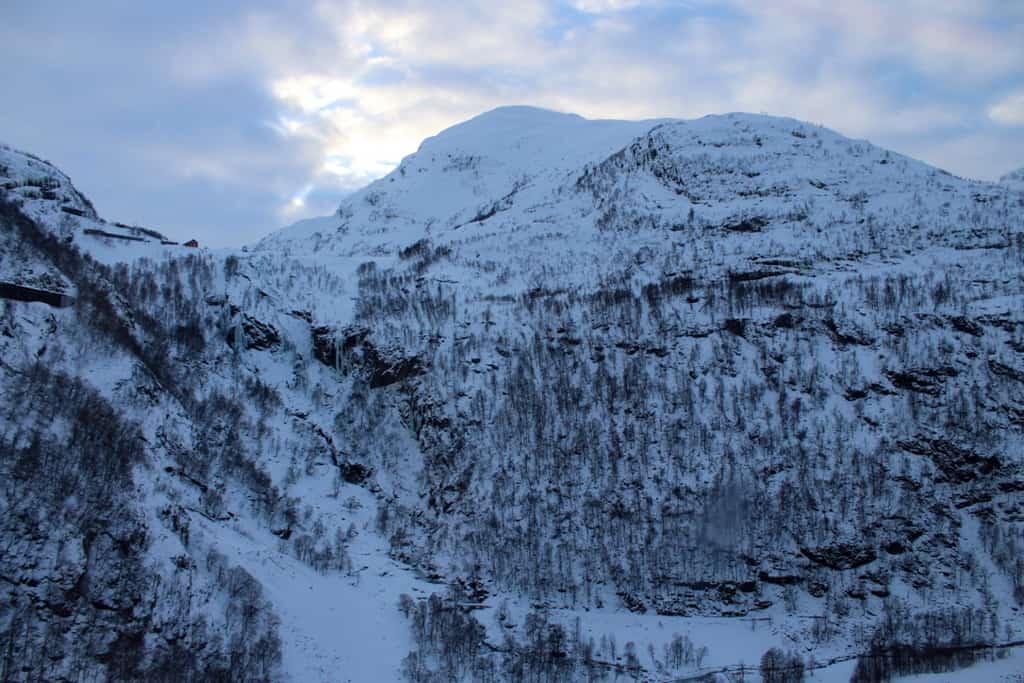 Snowy scenery in Norway