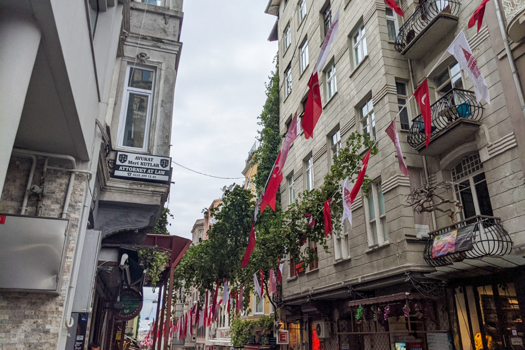 The streets of Istanbul.