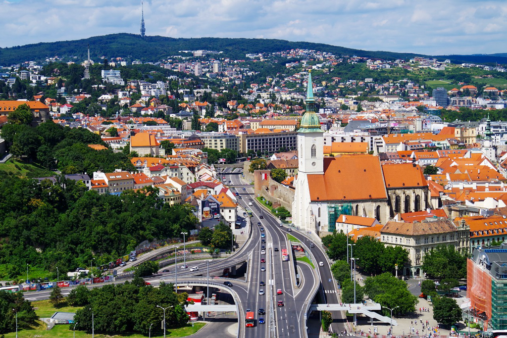Bratislava is a unique city within Europe.